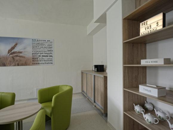 Komunitne miestnosti v nemocnici Svet zdravia Trebisov na onkologii a psychiatrii