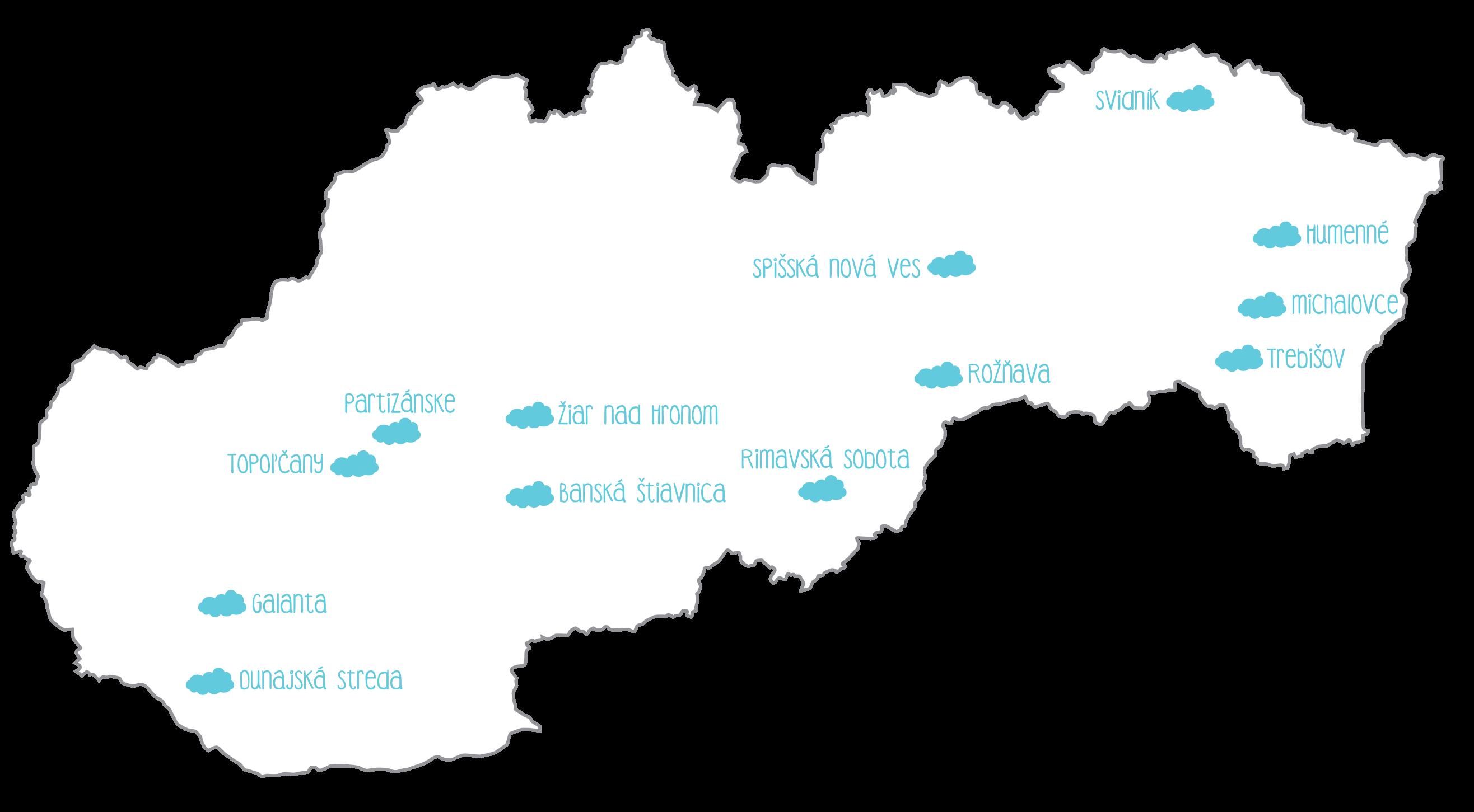 Krajší deň - mapa nemocníc september 2019