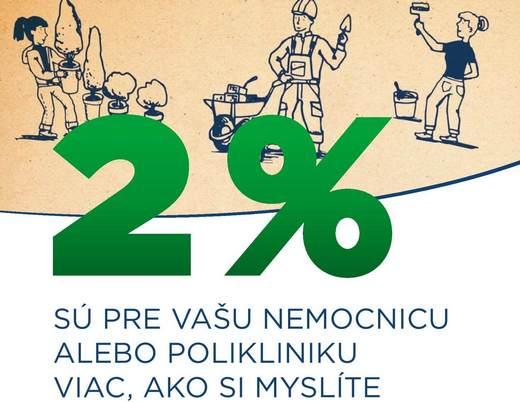2 % pre vašu nemocnicu